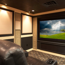 Contemporary Home Theater by Encore Custom Audio Video