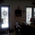 """Blinds, shades and shutters - These plantation shutters with 4 1/2"""" louvers truly are furniture for your windows.  The have so many benefits on so many levels, and they look beautiful!"""