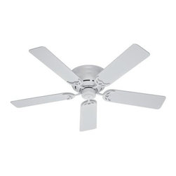 """Hunter Fan Company - 52"""" Low Profile III Ceiling Fan - Low Profile III - 52"""" - Model: 20803 - Traditional - Low Ceiling - Hunter combines 19th century craftsmanship with 21st century design and technology to create ceiling fans of unmatched quality style and whisper-quiet performance. Using the finest materials to create stylish designs. Hunter ceiling fans work beautifully in today's homes and can save up to 47% on cooling costs!"""