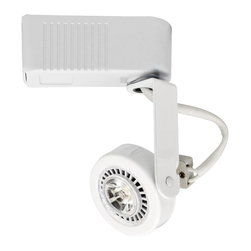 """Intense - Contemporary Intense Lighting Low Voltage White LED Gimbal Track Head - Easily update your track lighting with this contemporary LED gimbal track head in a white finish. This low voltage design is rated for an energy efficient MR16 LED bulb. Adjustable so you can direct the light where you need it most. For use with Intense Lighting track products. Gimbal track head. White finish. For use with Intense Lighting track products. Rated for use with one maximum 15 watt MR16 LED or equivalent bulb (not included). Low voltage. 355 degree rotation. 12 volts. 5 1/2"""" high. 2 1/4"""" wide. 2"""" deep.  Gimbal LED track head.  White finish.  For use with Intense Lighting track products.  Rated for use with one maximum 15 watt MR16 LED or equivalent bulb (not included).  Low voltage.  355 degree rotation.  12 volts.  5 1/2"""" high.  2 1/4"""" wide.  2"""" deep.   Full range dimming to 10% with Electronic Low voltage dimmer."""