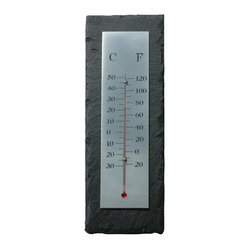 Slate Thermometer, Rectangular - Rock-solid in its sophisticated simplicity, mercurial fluctuations not withstanding. Place it near a window to get the info you need to get dressed in the morning.