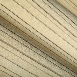 Line Up Upholstery Fabric in Onyx - Line Up Designer Beige Chenille Upholstery Fabric with Onyx Black Stripes. A neutral cotton blend perfect for upholstering seats, chairs, and couches.