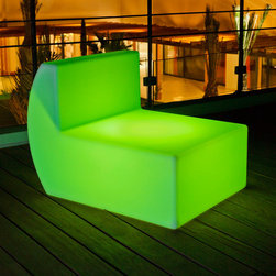 Smart and Green - Down - Outdoor Portable LED Lamp | Smart & Green - Smart & Green Lighting Down Outdoor Portable�_LED Lamp features�_cordless and rechargeable, waterproof, shockproof, energy efficient LED lamp at home for indoors or outdoors.�_ Down is a modular bright sofa, he will agree with other elements but also with Down corner sofa Side.Down is of course very durable and can withstand several people, then move your living room in the garden, in Down effect is wireless and it will bend to your every whim. �_ 3 intensities of white candle effect, 160,000 color scrolling with the ability to stay on one color, three fixed colors with remote control sold separately. 5 hours of charging for 8 to 20 hours of use depending on the light mode. �_ Manufacturer:�_Smart & Green Size:�_38 in. length x 28 in. width x 28 in. height Light Source: 1�_watt�_52 LEDs (16 white, 36 colors)�_[50,000 hours lifetime] - included Location: Wet Charger: Input: 100 ~ 240VAC 50-60Hz 10W max - Output: 5VDC Battery: Li-Polymer 1750 mAh. 3.7 V Remote Control: Kameleon �_ Shipping: This item ships via freight - fee applied at shopping cart