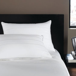 Hotel Collection Bedding, Standard/Queen Medium Down Pillow - The softness of down, the luxury of Hotel Collection. Bring the best to your bedroom with lofty, European goose down fill wrapped in smooth, 400-thread count cotton and finished with an embroidered Hotel Collection logo. It's an indulgence you'll enjoy night after night. Only at Macy's. As featured on Oprah's Favorite Things 2012.