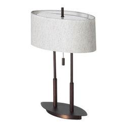 Dainolite - Dainolite DM2222-OBB Decorative 2 Light Table Lamp - Features: