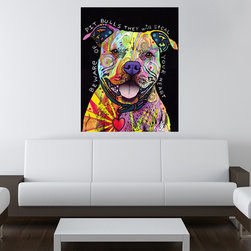 My Wonderful Walls - Beware of Pit Bulls Wall Sticker - Decal, Small - Beware of Pit Bulls graphic by Dean Russo