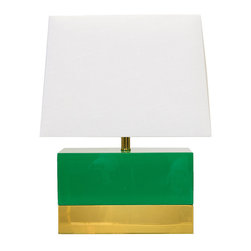 worlds away - Worlds Away Foley Green Lacquer and Brass Table Lamp - Worlds Away Foley Green Lacquer and Brass Table Lamp