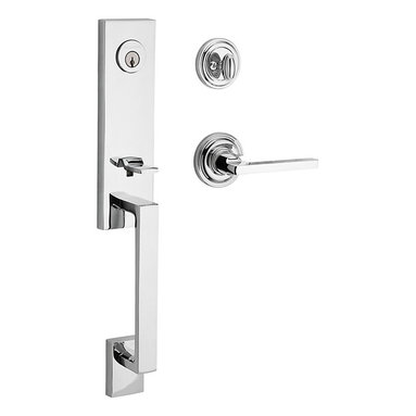 Baldwin Hardware - Baldwin Reserve Seattle Handleset, RH Square Lever, Polished Chrome - Right Handed Lever