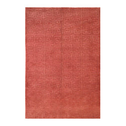 """Safavieh - Tibetan Greek Key Rust Rug - Safavieh's High Touch Tibetan Weave brings an ancient weave and fine materials to the present sensibilities of today's interior design. Simple geometric patterns, almost hidden within the weave, with muted accents, soft shades and neutral earth tones, are the main visual characteristics of this series. Features: -Technique: Tibetan weave.-Style: Contemporary.-Vacuum regularly. Brushless attachment is recommended..-Avoid direct and continuous exposure to sunlight..-Do not pull loose ends; clip them with scissors to remove..-Remove spills immediately; blot with clean cloth by pressing firmly around the spill to absorb as much as possible. For hard-to-remove stains professional rug cleaning is recommended..-Construction: Handmade.-Collection: Tibetan.-Distressed: No.-Collection: Tibetan.-Construction: Handmade.-Technique: Knotted.-Primary Color: Rust.-Material: 100% Wool.-Fringe: No.-Reversible: No.-Rug Pad Needed: Yes.-Water Repellent: No.-Mildew Resistant: No.-Stain Resistant: No.-Fade Resistant: No.-Swatch Available: No.-Eco-Friendly: No.-Recycled Content: 0%.-Outdoor Use: No.-Product Care: Professional cleaning is recommended.Specifications: -Material: 100% Wool.Dimensions: -Overall Product Weight (Rug Size: 10' x 14'): 116.2 lbs.-Overall Product Weight (Rug Size: 4' x 6'): 19.92 lbs.-Overall Product Weight (Rug Size: 5' x 7'6""""): 31.13 lbs.-Overall Product Weight (Rug Size: 6' x 9'): 44.82 lbs.-Overall Product Weight (Rug Size: 8' x 10'): 66.4 lbs.-Overall Product Weight (Rug Size: 9' x 12'): 89.64 lbs."""