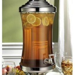 Godinger Monticello 2.5 gal. Glass Beverage Dispenser - About GodingerBased in Ridgewood, N.Y., Godinger has been creating distinctive kitchenware, home decor, and gifts for over 40 years. Hand-crafted from crystal, pewter, and silver, Godinger's unique wedding gifts and home decor make any special occasion even more meaningful. From serving dishes and silverware, to barware and centerpieces, their wide tableware selection puts the art back into dining. Godinger is committed to providing excellent quality and style at affordable prices for every customer.