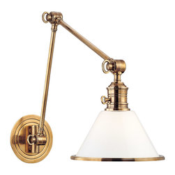 Hudson Valley Lighting - Hudson Valley Lighting 8333-AGB Garden City 1 Light Wall Sconces in Aged Brass - This 1 light Wall Sconce from the Garden City collection by Hudson Valley Lighting will enhance your home with a perfect mix of form and function. The features include a Aged Brass finish applied by experts. This item qualifies for free shipping!