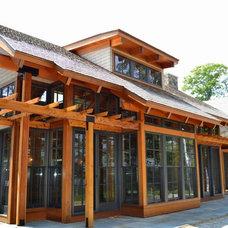 Contemporary Exterior by R.P. Morrison Builders, Inc.