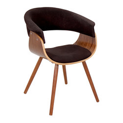"Lumisource - Vintage Mod Chair, Walnut/Espresso - 20.50""L x 24.5""W x 29.5""H"