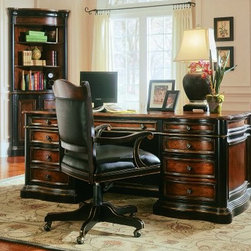 Hooker Furniture - Hooker Furniture Preston Ridge Executive Desk with Parquet Top 864-10-562 - Parquet top