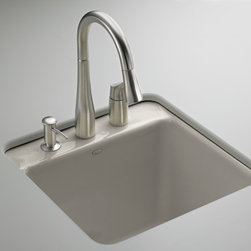 KOHLER - KOHLER K-6655-2U-K4 Park Falls undercounter sink with two-hole faucet drilling - KOHLER K-6655-2U-K4 Park Falls undercounter sink with two-hole faucet drilling in Cashmere