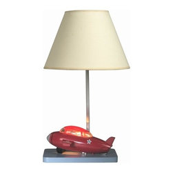 "Cal Lighting - Cal Lighting BO-5671 67 Watt 20"" Kids / Youth Plastic Bomber Plane Table Lamp wi - 67 Watt 20"" Kids / Youth Plastic Bomber Plane Table Lamp with On/Off Switch and Night Light from the Kids CollectionSpecifications:"
