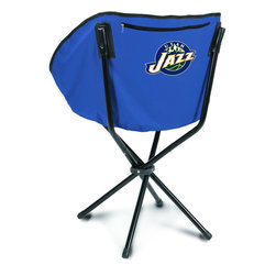 """Picnic Time - Utah Jazz Sling Chair in Navy - The Sling Chair by Picnic Time is a portable, folding chair you can take anywhere. The chair opens to 20"""" wide x 14"""" deep x 30"""" high. No loose parts It's so compact and convenient, you may just want to keep it in the trunk of your car!; Decoration: Digital Print; Includes: 1 nylon drawstring carry bag"""