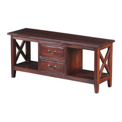 Sterling Industries - Galloway Media Cabinet in Mahogany - This Galloway media cabinet is made of mahogany wood. Features simple stylish design yet functional and suitable for any room. This versatile media cabinet makes a fresh and clean addition to the room. An ideal accent piece for the living room, playroom or even bedside. Includes 3 drawers with ample storage space. It can be used to store electronics, DVDs, gaming consoles and more. Wipe clean with clean damped cloth. Avoid using harsh chemicals. Available in mahogany stain finish.