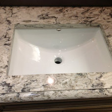 Traditional Vanity Tops And Side Splashes by Competitive Kitchen Designs, Inc.