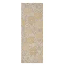 Surya - Surya Labyrinth Beige Indoor/Outdoor Polypropylene Rug, 2' x 3' - The Labyrinth collection of indoor/outdoor rugs is the perfect addition for your patio or sunroom. The cheerful graphic pattern of swirls and flowers against a solid neutral background will compliment any decor. Hand hooked from 1% polyester these sturdy pieces are on duty 24/7 to protect form the elements.  Imported.Material: 100% PolypropyleneCare Instructions: Blot Stains