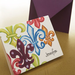 Fleur-De-Lis Fold Notes with Envelopes -