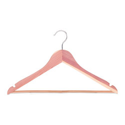 StorageManiac - StorageManiac Multifunctional High-Grade Cedar Suit Hangers, Pack of 5 - Features: