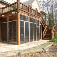 A screened porch with rustic southern elegance - Screened Porches Photo Gallery