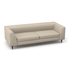 "Viesso - Dekayess 80"" Sofa (Custom) - The Dekayess 80"" is perfect for that compact space. The rounded arms makes for a vintage feel, which can be especially played up with a classic fabric or more ornate wood legs."