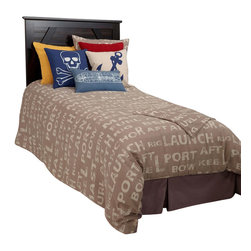 Rizzy Home - Sail Away Khaki Full Size Kids Bed Skirt - Sail Away tailored bed skirt is a great way to compliment their dress the bed set.  This solid gray-khaki bed skirt is the perfect way to the complete look nautical boys bed.