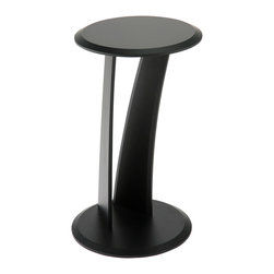 Eurø Style - Mushroom Black Side Table - Accentuate your living room with this unique Mushroom Black Side Table. The table features mushroom design, round top, MDF construction, black finish and contemporary style.