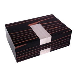 High Gloss Lacquered 4-Watch & 12-Cufflink Box - Ebony Burl Finish - 11.85W x 3. - Elegance, thy name is the High Gloss Lacquered 4-Watch & 12-Cufflink Box - Ebony Burl Finish. Or so you and your accessories might think once you start stashing your treasures in this bold beauty. With seven layers of gorgeous ebony burl finish and a strong yet simple construction, this is one watch and cufflink box that's designed to impress. The velour lining helps protect all your accessories from scratching. Nine divided compartments give you room to store cufflinks, bracelets, and other accessories, while four pillows are perfect for keeping your watches in pristine working order. But be warned, this is one watch and cufflink box that might leave its contents slightly jealous of their container. About Bey-Berk InternationalThis quality item is created by Bey-Berk. For more than 20 years, Bey-Berk International has crafted and hand-selected unique gifts and accessories from around the world to meet the demands of discerning customers. With its line of elegant and distinctive products, Bey-Berk has established itself as a leader in luxury accessories.
