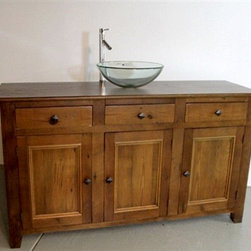 3 Door Reclaimed Barn Wood Bathroom Vanity - Made by http://www.ecustomfinishes.com