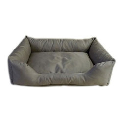 Carolina Pet Company - Brutus Tuff Kuddle Lounge, Khaki, 26 X 19 X 8 - Super tough for pets that are rough on their beds.  1200 D Polyester fabric makes this the perfect bed for pets that like to scratch or chew.  Easy off zippered cover for easy care.  Machine washable.  100% recycled high loft Polyester fill keeps pets off cold floors for added comfort and relief on hips, joints and pressure points.