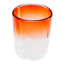 15.5oz Double Old Fashioned Orange Ombre
