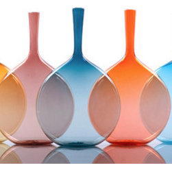 Hues Flask Vase - Simple shapes in bright colors — that's my aesthetic in a nutshell.