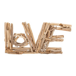 Benzara - Modern Inspired Style The Eternal Driftwood Love Home Decor - Modern and unique inspired style the eternal driftwood love living and dining room home accent decor