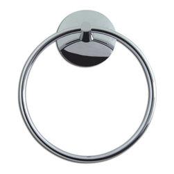 Atlas Homewares - Polished Chrome Lola Towel Ring (ATHLOTRCH) - Polished Chrome Lola Towel Ring