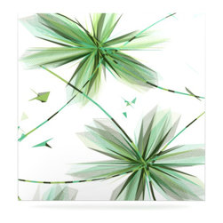 """Kess InHouse - Alison Coxon """"Flower Teal"""" Metal Luxe Panel (8"""" x 8"""") - Our luxe KESS InHouse art panels are the perfect addition to your super fab living room, dining room, bedroom or bathroom. Heck, we have customers that have them in their sunrooms. These items are the art equivalent to flat screens. They offer a bright splash of color in a sleek and elegant way. They are available in square and rectangle sizes. Comes with a shadow mount for an even sleeker finish. By infusing the dyes of the artwork directly onto specially coated metal panels, the artwork is extremely durable and will showcase the exceptional detail. Use them together to make large art installations or showcase them individually. Our KESS InHouse Art Panels will jump off your walls. We can't wait to see what our interior design savvy clients will come up with next."""