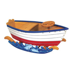 "Guidecraft - Wooden Runabout Boat Rocker - Sail the high seas or zoom through the wild blue yonder. Ride the rails or cruise down the road with the top down. Retro Rockers allow kids to seek new adventures and create new memories all their own. The Runabout Retro Rocker will provide your little sailor with hours of fun in his or her very own boat!   Features: -Boat rocker -Assembly Required -Overall dimensions: 18"" H x 37"" W x 16.5"" D"