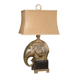 Uttermost - Abayomi Antique Champagne Lamp - An elegant and exotic touch for your traditional home. The antiqued finish gives this handsome elephant lamp an even more refined appeal.