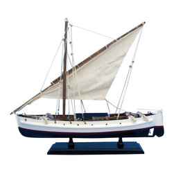 """Handcrafted Model Ships - Second Wave 19"""" - Wood Model Fishing Boat - Not a model ship kit"""