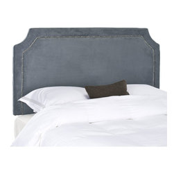 Safavieh - Safavieh Shayne Grey Full/ Queen Headboard - Stylish and sophisticated, this modern queen headboard is just the thing to update the look of your bedroom. It is covered in polyester fabric for easy care, and the rich dark color will coordinate with a wide variety of bedroom decors.