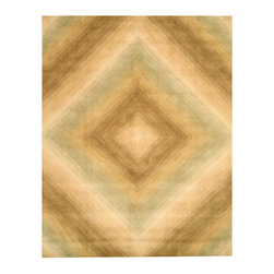 EORC - T92IV Ivory Hand Tufetd Wool Sands Rug, 5' x 8' - Hand Tufetd Wool Sands Rug is made with soft colors in an elegant contemporay design forfect for any decor
