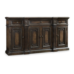 Hooker Furniture - Hooker Furniture DaValle Thin Shaped Credenza 5166-85001 - Hooker Furniture DaValle Thin Shaped Credenza 5166-85001