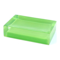 Gedy - Decorative Green Soap Holder - Decorative rectangle soap holder made in thermoplastic resin.