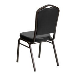 Flash Furniture - Flash Furniture Banquet Stack Chairs Banquet Stack Chairs - This is one tough chair that will withstand the rigors of time. With a frame that will hold in excess of 500 lbs., the HERCULES Series Banquet Chair is one of the strongest banquet chairs on the market. You can make use of banquet chairs for many kinds of occasions. This banquet chair can be used in Church, Banquet Halls, Wedding Ceremonies, Training Rooms, Conference Meetings, Hotels, Conventions, Schools and any other gathering for practical seating arrangements. The banquet chair is also great for home usage from small to large gatherings. For any environment that you use a banquet chair it will put your guests at a greater comfort level with the padded seat and back. Another advantage is the stacking capability that allows you to move the chairs out of the way when not in use. With offerings of comfort and durability, you can be assured that you can enjoy this elegant stacking banquet chair for years to come. [FD-C01-GOLDVEIN-BK-VY-GG]