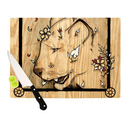 """Kess InHouse - Jennie Penny """"Panther"""" Cutting Board (11"""" x 7.5"""") - These sturdy tempered glass cutting boards will make everything you chop look like a Dutch painting. Perfect the art of cooking with your KESS InHouse unique art cutting board. Go for patterns or painted, either way this non-skid, dishwasher safe cutting board is perfect for preparing any artistic dinner or serving. Cut, chop, serve or frame, all of these unique cutting boards are gorgeous."""