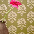 Small Jaipur Flower Garden Furniture Stencil - Small Jaipur Flower Garden Furniture Stencil from Royal Design Studio for walls, furniture, ceiling, floor, or fabric.