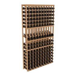 Wine Racks America - 10 Column Display Row Wine Cellar Kit in Pine, Oak Stain + Satin Finish - Make your 10 best vintages the focal point in your wine cellar. Display rows allow presentation of favored labels and encourages simple cellar organization. Our wine cellar kits are constructed to industry-leading standards. You'll be satisfied. We guarantee it.