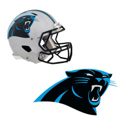 Brewster Home Fashions - NFL Carolina Panthers Wall Graphics 5pc Teammate Sticker Set - FEATURES:
